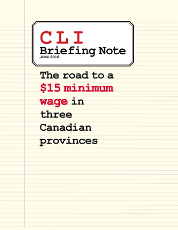 The Road to $15 in Three Canadian Provinces