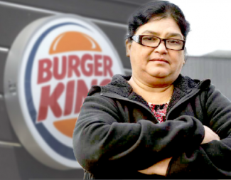 USHA RAM in front of a Burger King